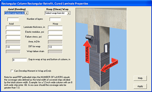 Column Blast Analysis Retrofit Design