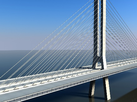 Cable stayed bridge