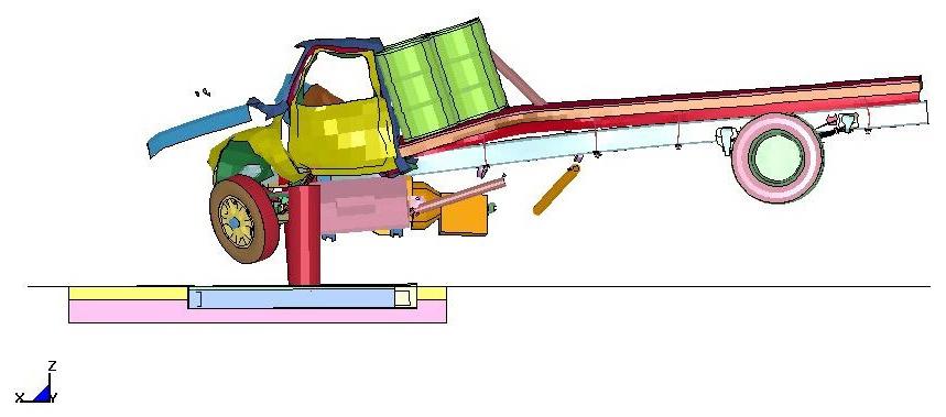 Anti-ram Shallow mount bollard system