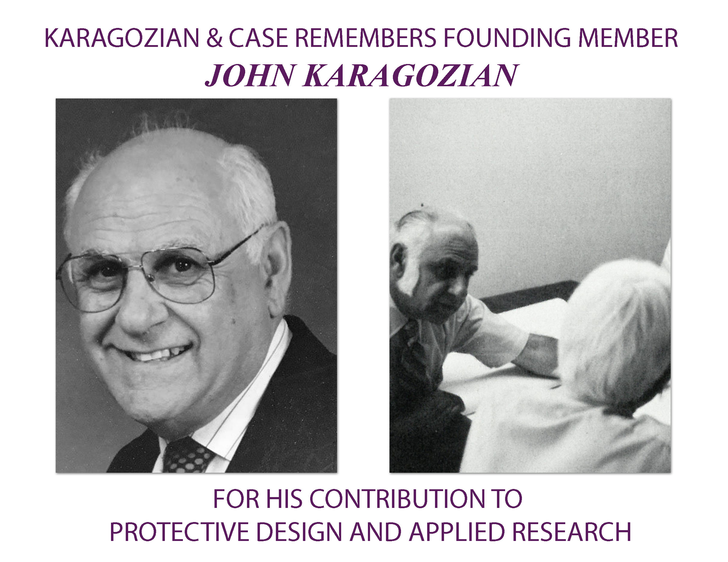 Remembering John Karagozian