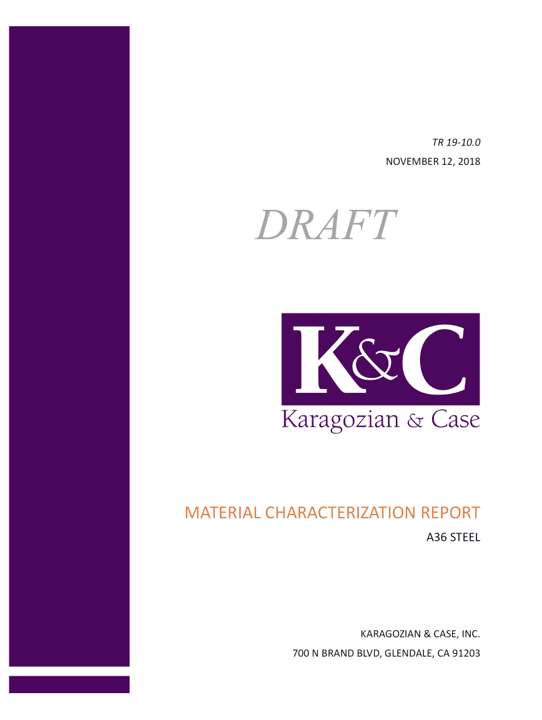 Dynamic Material Characterization Detailed Test Report